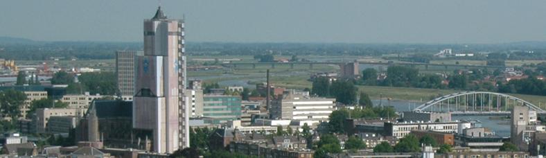 Luchtfoto van Arnhem
